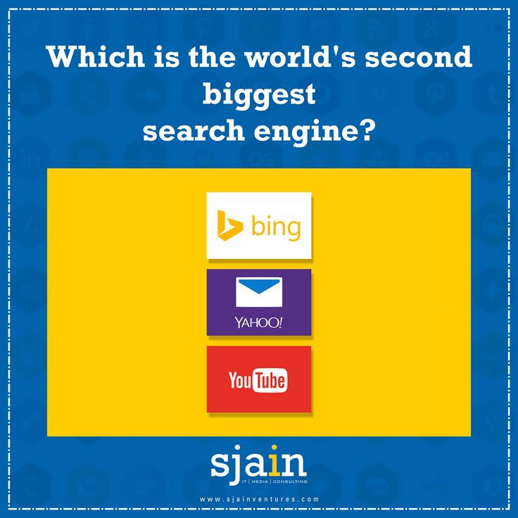 Which is the world's second biggest #SearchEngine? Comment fast.