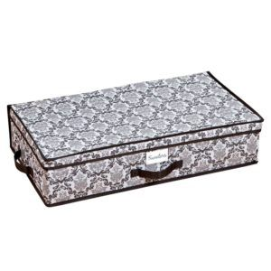 Grey Damask Storage Boxes