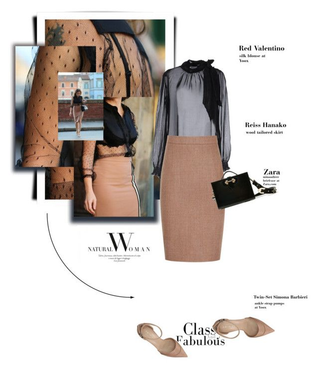 """""""Thighs"""" by theitalianglam ❤ liked on Polyvore featuring RED Valentino, Reiss and Twin-Set"""