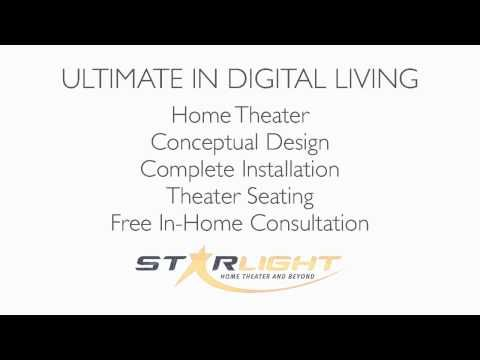 STARLIGHT home theater, automation, design services offered inside STACY Furniture and Design