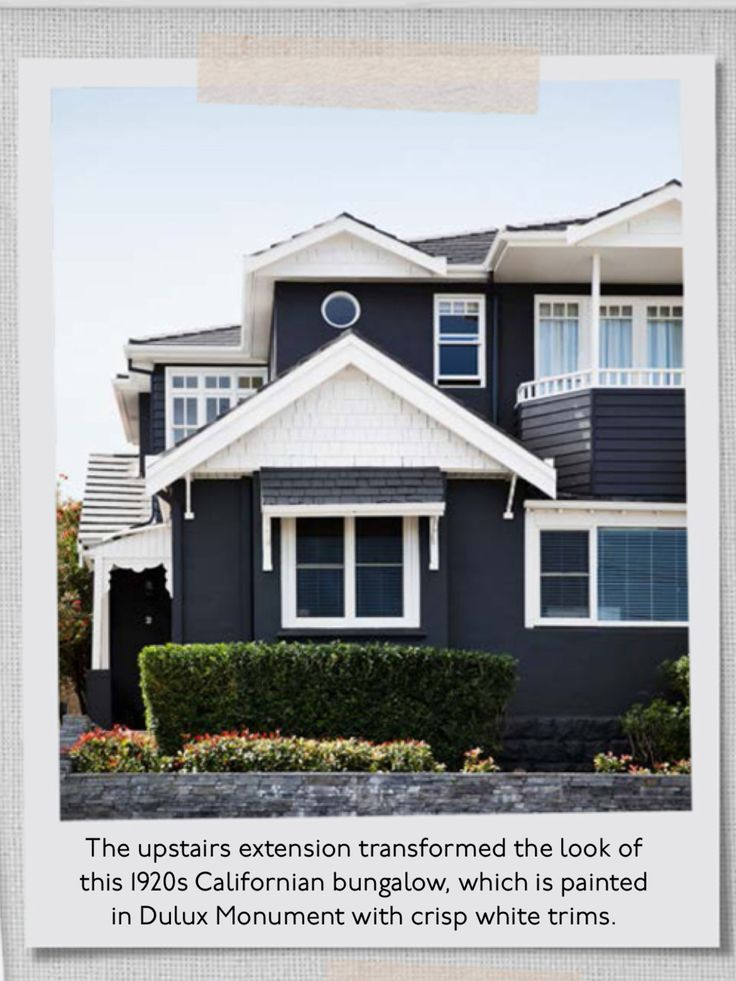 Dulux Momument Paint With White Trim Garden Design In