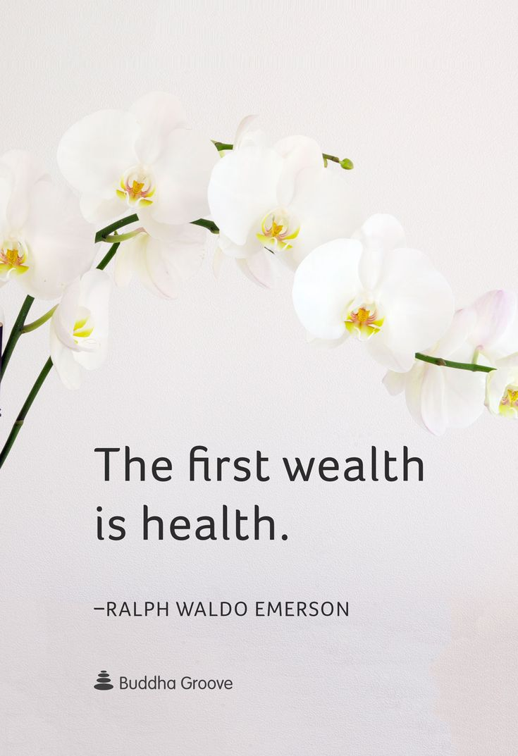 """Quote for Wellness - """"The first wealth is health."""" -Ralph Waldo Emerson"""