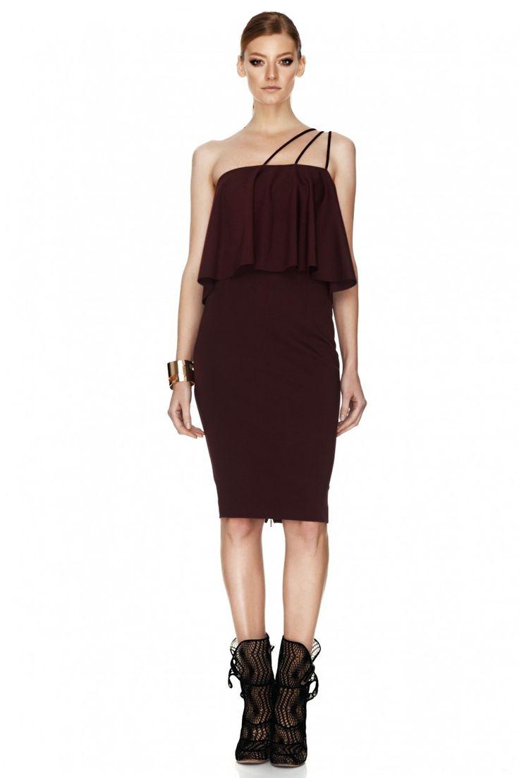 Burgundy Jersey Dress - PNK Casual