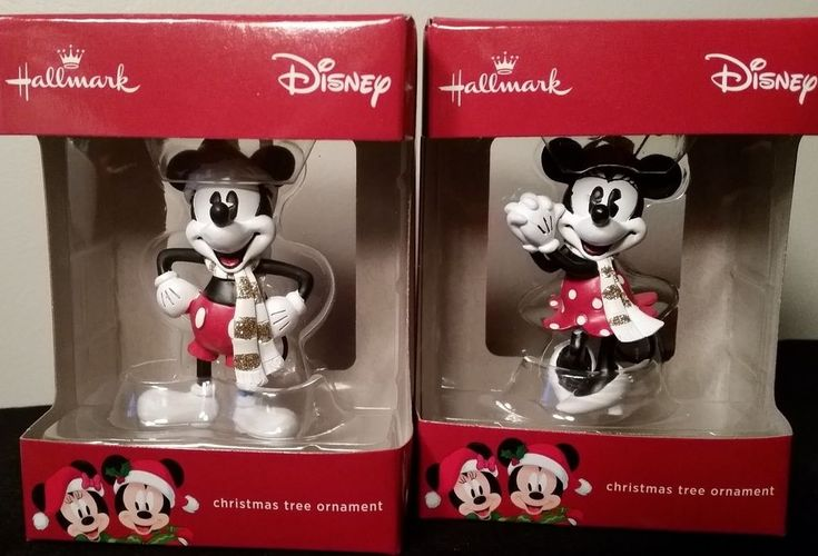 HALLMARK 2017 DISNEY MICKEY & MINNIE MOUSE WEARING WHITE & GOLD SCARF ORNAMENTS | Collectibles, Decorative Collectibles, Decorative Collectible Brands | eBay!