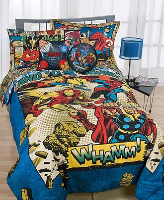 Marvel Bedding, Whamm Comforter Sets - Bed in a Bag - Bed & Bath - Macy's