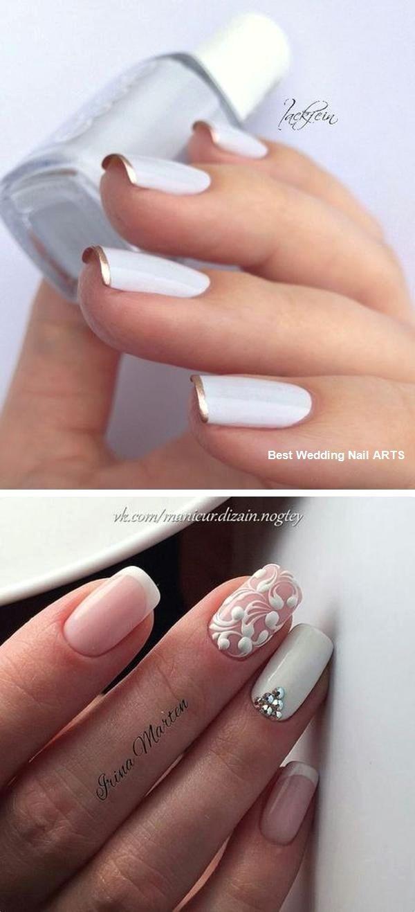 35 Simple Ideas For Wedding Nails Design Naildesign Nailartideas