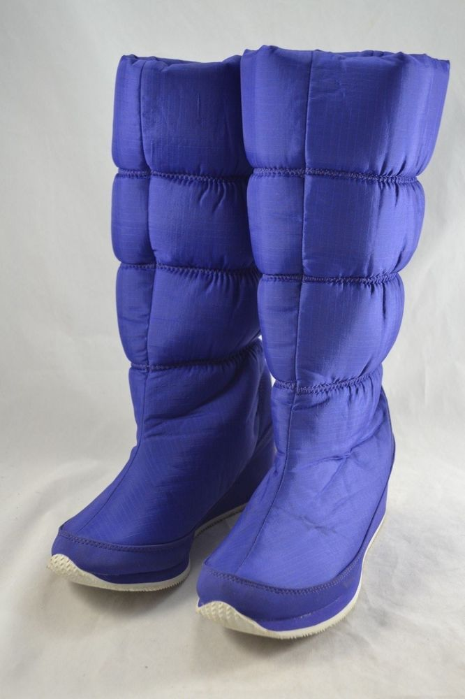 LACOSTE  Perron  ladies cobalt blue wedge snow boots UK6 EU39.5 VGC quilted