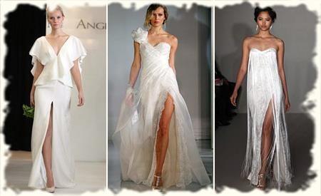Свадебное платье с высоким разрезом картинки