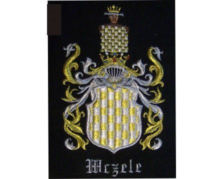 Herb rodowy WCZELE - coat of arms - AHA STUDIO Pracownia Haftu Artystycznego   HAFT ARTYSTYCZNY -HERBY, SZTANDARY, PROPORCZYKI  cena 250 zł.   ZAMÓW