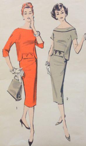 Vintage 1950s Dress Advance Sewing Pattern 8703 Size 16 Bust 36 Hip 38 RARE | eBay