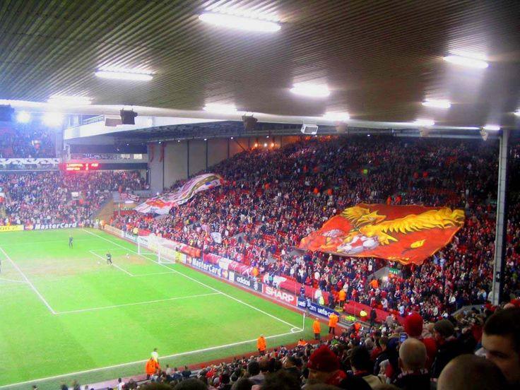 The Kop, Anfield, Liverpool, Merseyside, England, United Kingdom.
