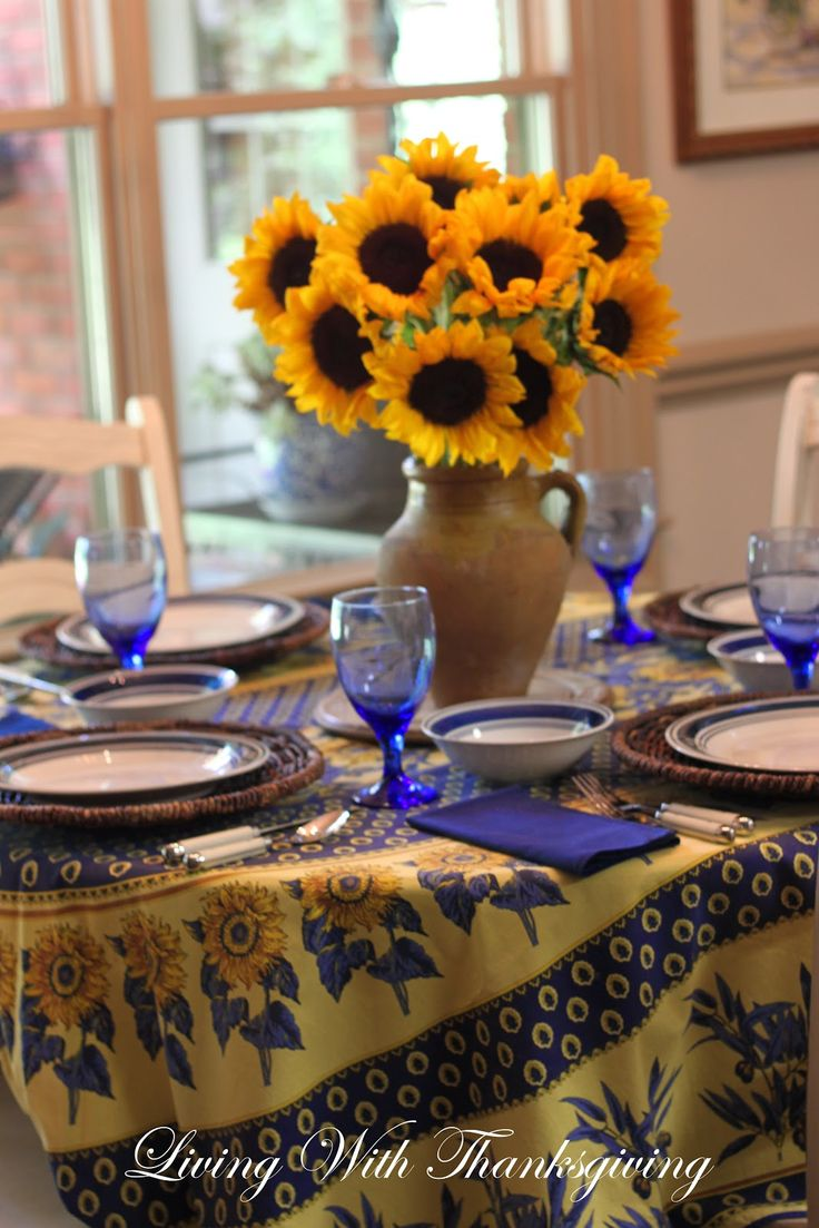 Living With Thanksgiving: Provencal Tablecloth Inspiration