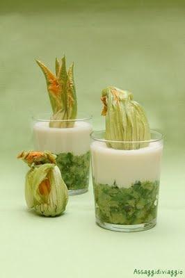 Caviale di zucchine e crema di Parmigiano
