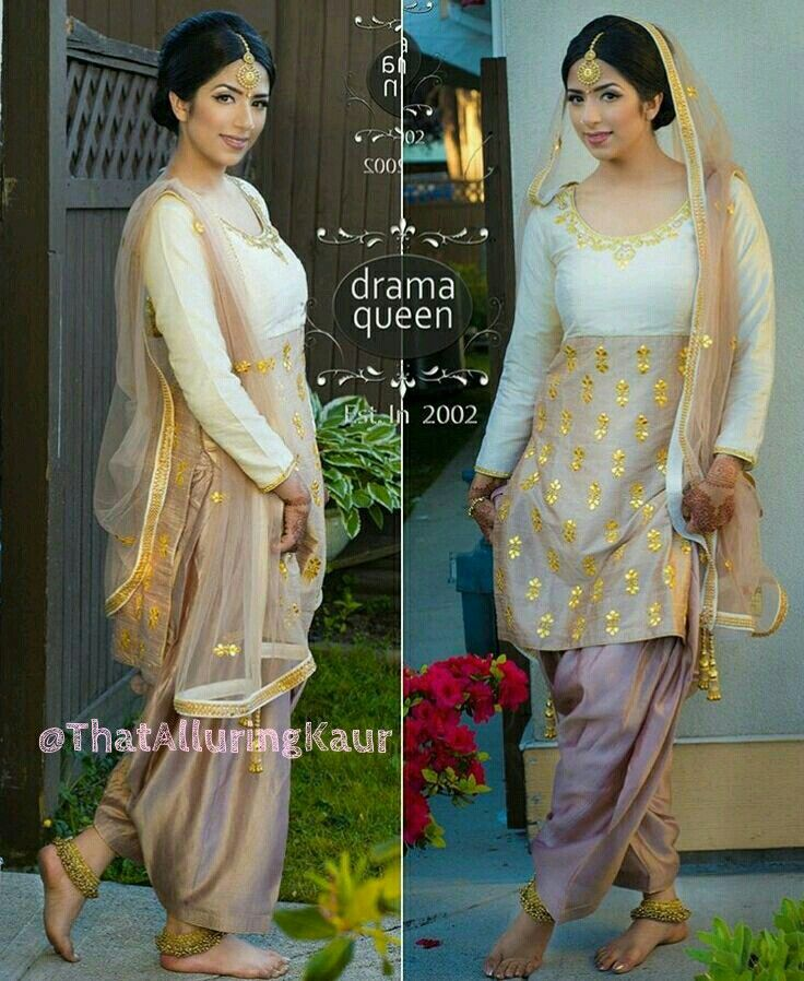 Punjabi Suit. #salwarkameez #salwarsuit #indianfashion #punjabisuit. For More Follow Pinterest : @reetk516