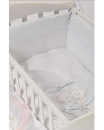Feretti Baby Beddings Culla Gemelli Doppio Nidi Enchant белый  — 5070р.  Набор Baby Beddings Culla Gemelli Doppio Nidi Enchant белый Feretti состоит из одеяла и бортика. Комплект идеально подходит к люльке для близнецов от Feretti.
