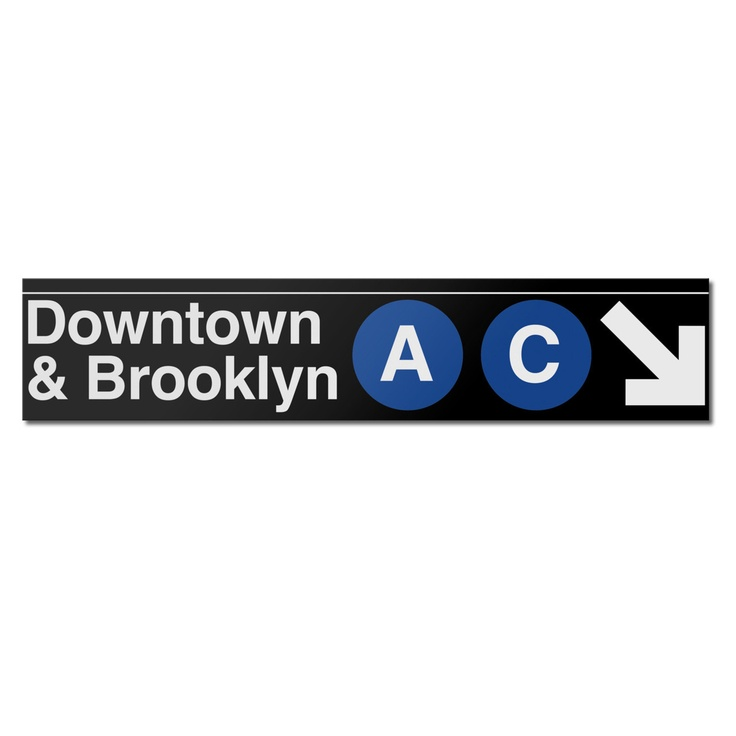 Downtown & BrooklynSubway Signs, York Inside, York Cities, Art, Brooklyn Signs, Places, New York, Products, Downtown