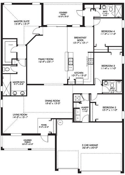 142 best dream floor plans images on pinterest house for 4 bedroom house plans with front porch