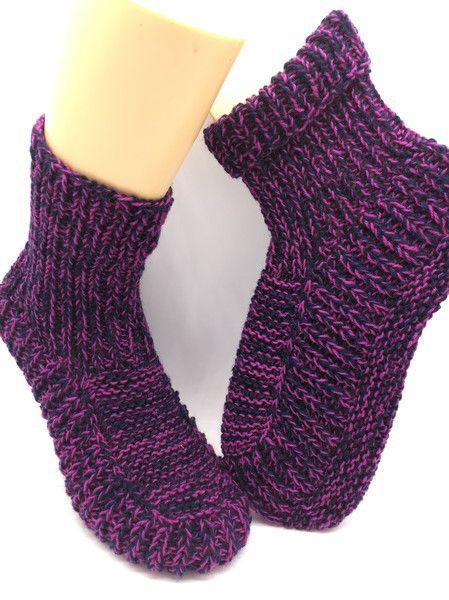 Kuschelsocken - Hüttenschuhe handgestrickt Socken Sockenwolle - ein Designerstück von crea--team bei DaWanda