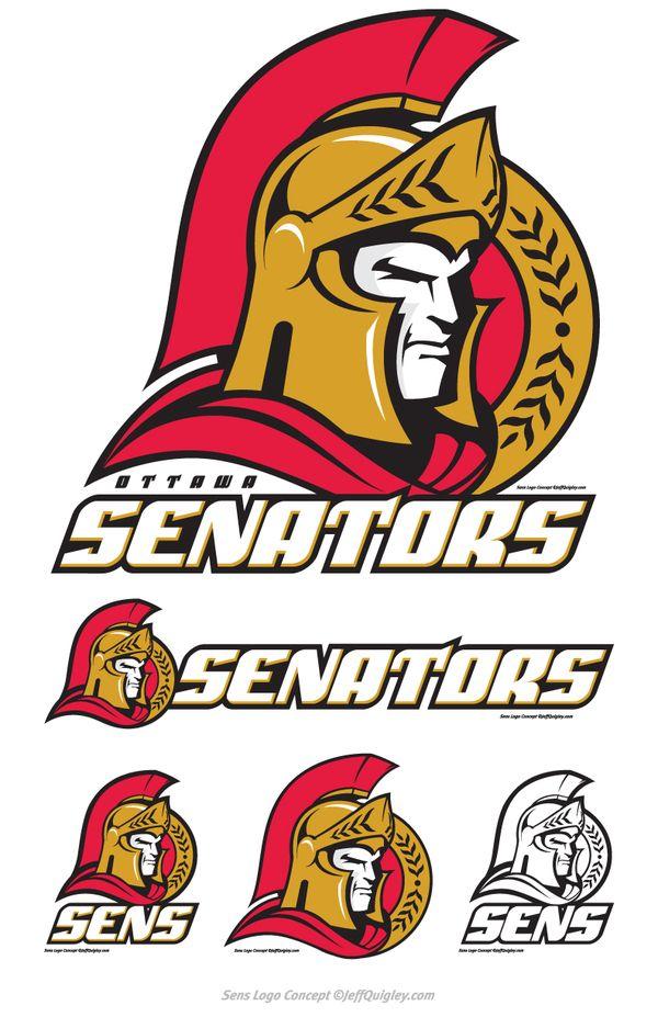 Ottawa Senators Concept Logo by Jeff Quigley, via Behance