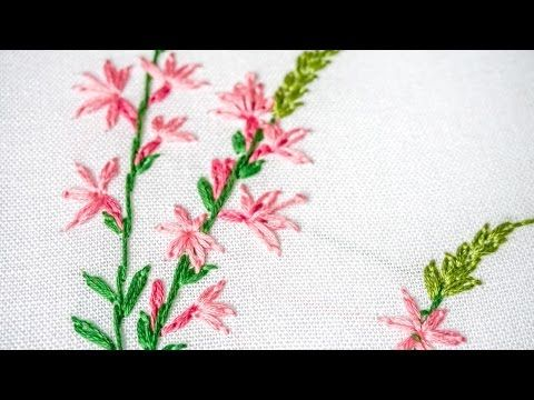 Hand Embroidery for Beginners | Learn Lazy daisy, Outline Stitches | HandiWorks #96 - YouTube