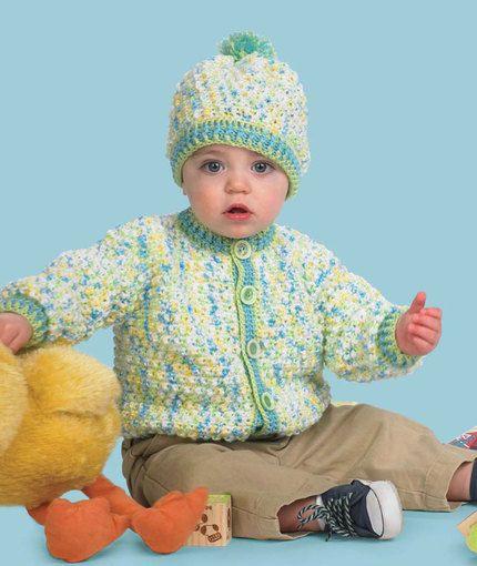 Baby Hat & Cardigan Free crochet pattern: