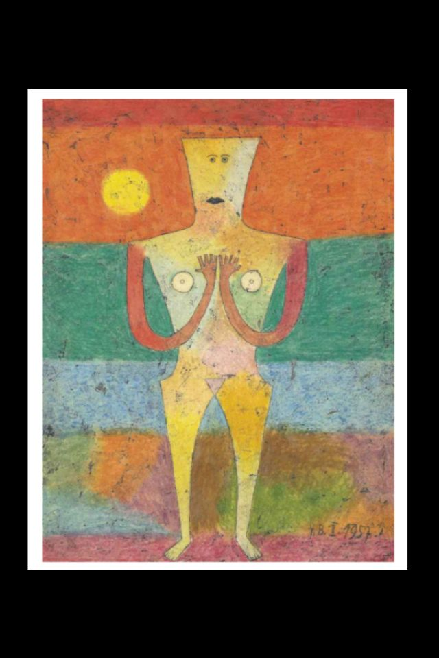 "Victor Brauner - ""Origine de la Poésie"", February 1957 - Encaustic painting and ink on paper laid down on board - 65,5 x 50,1 cm (*1)"