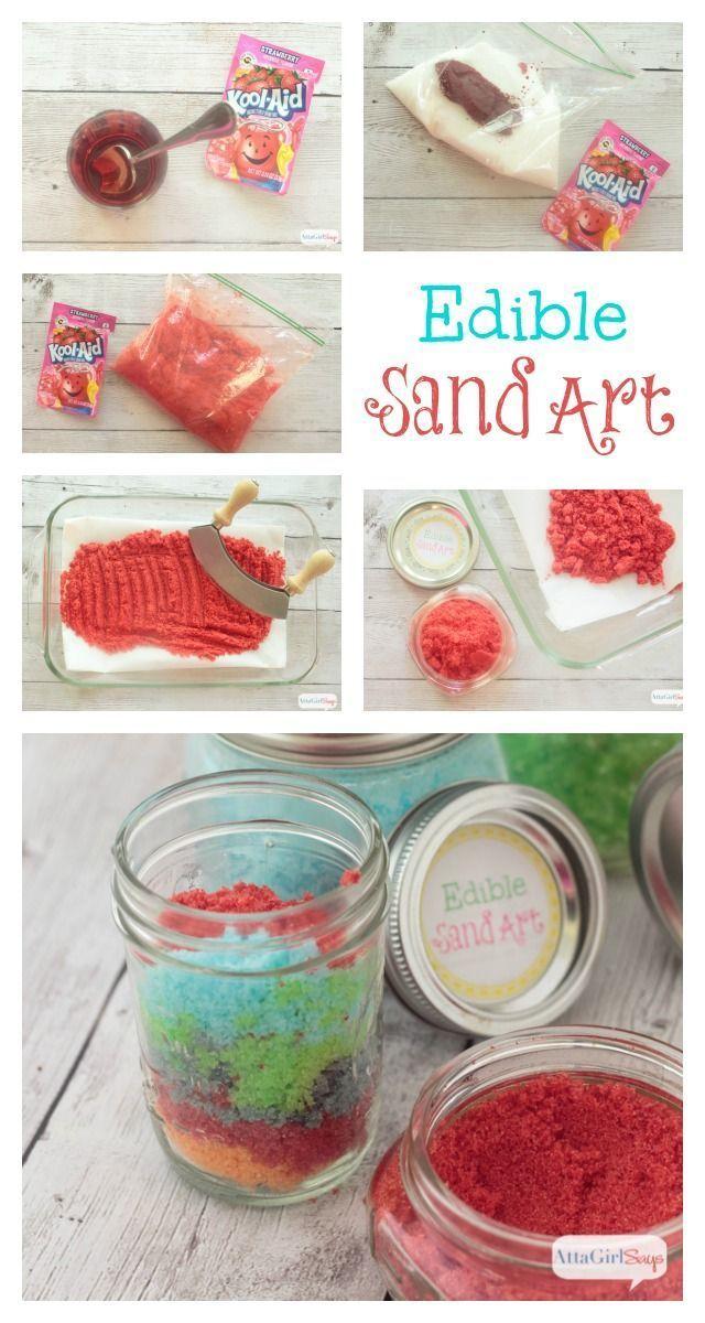 Edible Sand Art Recipe & Party Printables