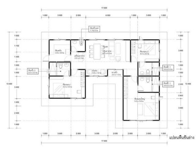 House Plans Idea 17x13 With 3 Bedrooms Sam House Plans House Plans How To Plan 2bhk House Plan
