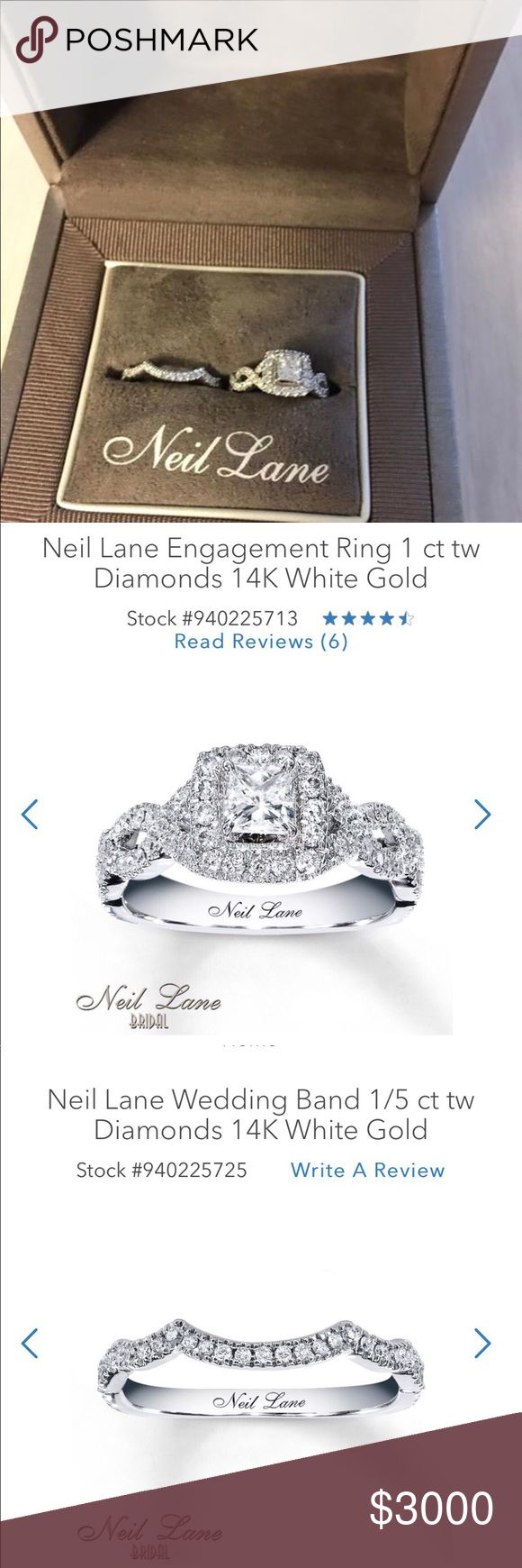 Neil Lane engagement ring/wedding band. *BRAND NEW*  Never worn! Neil Lane diamond engagement ring/wedding band. Size 5 Lifetime warranty from Kay's Jewelry neil lane Other