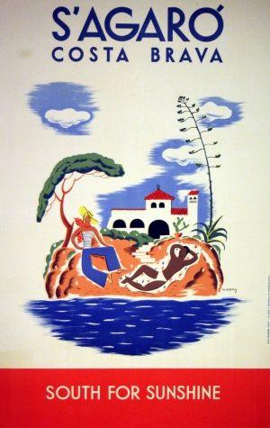 S'Agaro Costa Brava, 1934 - original vintage poster by Moneny listed on AntikBar.co.uk