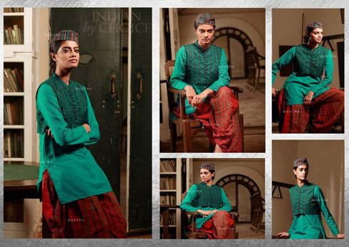 MANTRA, Indian by choice collection offers designer kurtas in women's ethnic fashion.