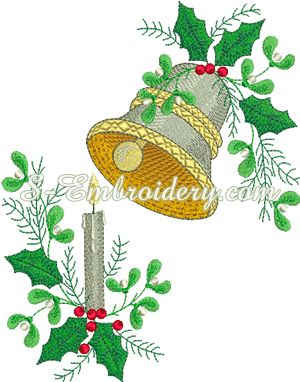 SKU 10182 Christmas Machine Embroidery Set