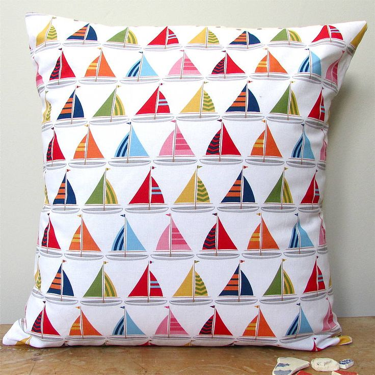 padstow boats cushion by edamay