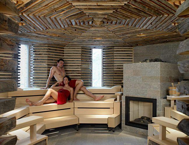 Klafs Rustic sauna #interiordesign #sauna #klafs #klafsmeansquality #custom #bespoke