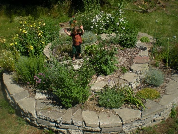 Find This Pin And More On Kert ötletek. Permaculture Spiral Gardening For  Beginners. Herb Garden Ideas 23 With Elegant Design ...