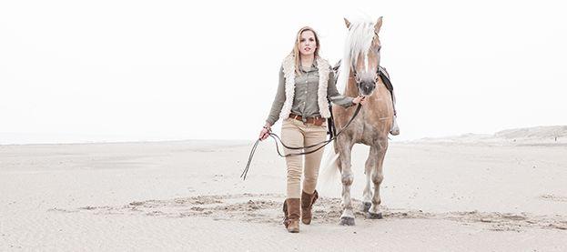 Fotoshoot Paard en Ruiter Rockanje strand