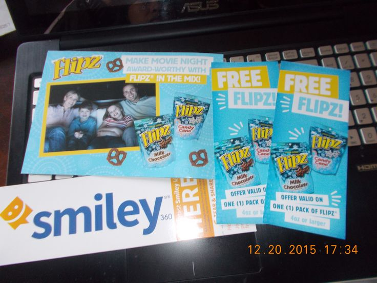 Cant wait to redeem our free Flipz! thanks for this free from @smiley360 will redeem it soon and have our fun family movie night with Flipz!!