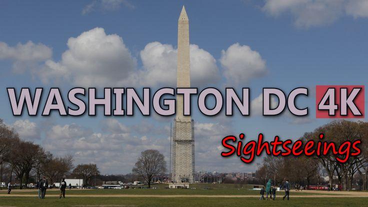 Ultra HD 4K Washington DC Travel Attraction Landmarks Sightseeing Top Sights UHD Video Stock Footage
