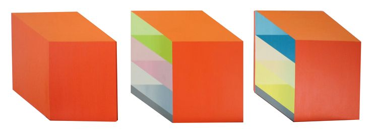 "Karolina Barcel, ""Pastelizm 3.3b"", acrylic on canvas, modern architecture, architecture on painting, young artist, polish art"