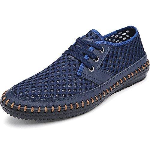 Oferta: 53.99€ Dto: -51%. Comprar Ofertas de Jamron Hombres Verano Ligero Respirar Libremente Cordón Malla Azul Marino Deporte Zapatos SN16605 EU43 barato. ¡Mira las ofertas!