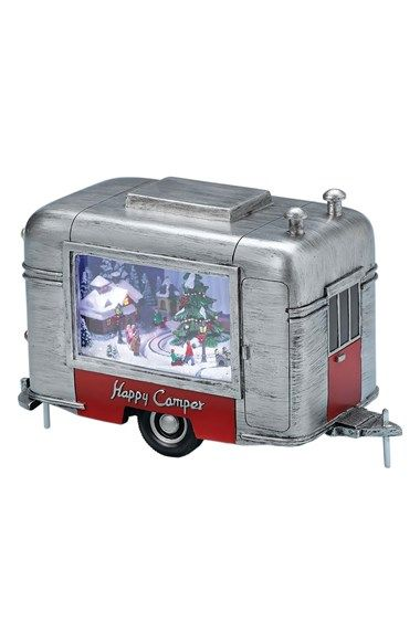 Roman 'Happy Camper' Christmas Music Box available at #Nordstrom