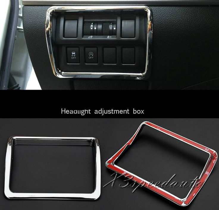 Free Shipping Chromed Headlight Adjustment Box Cover Trim For Subaru Outback 2015(A type)