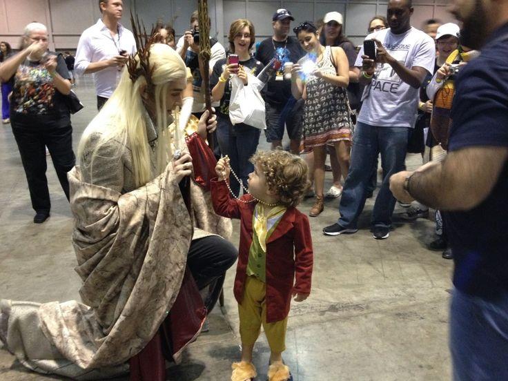 AWWW. Thranduil and Bilbo!