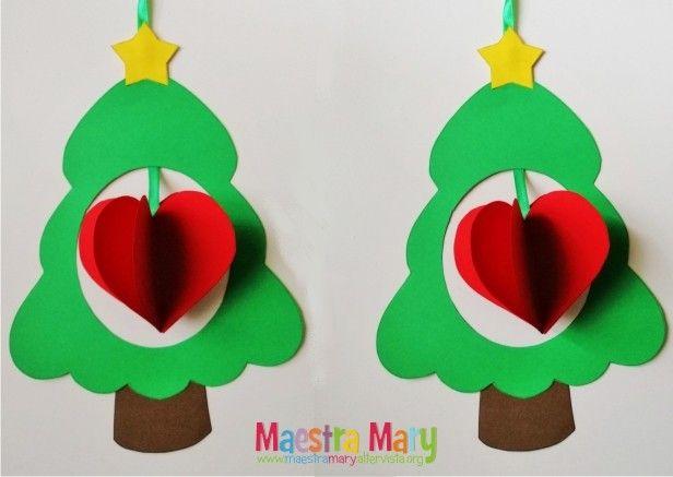 Decorazioni Di Natale Con Alberelli E Cuori Decorazioni Di