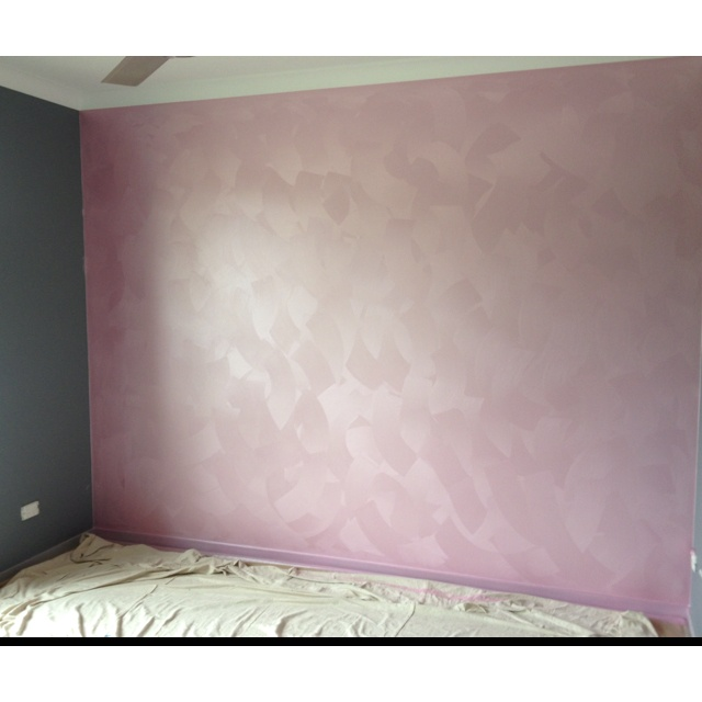 Princess Gidget's nursery...still a work in progress, but the amazing suede finish pearl pink feature wall is done!! (thanks to my amazing husband) love you babe x