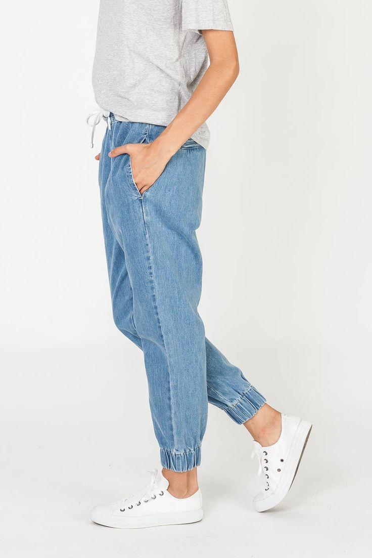 CLOVELLY PANT DENIM STONE WASH - PANTS & SHORTS - SHOP WOMENS Assembly Label