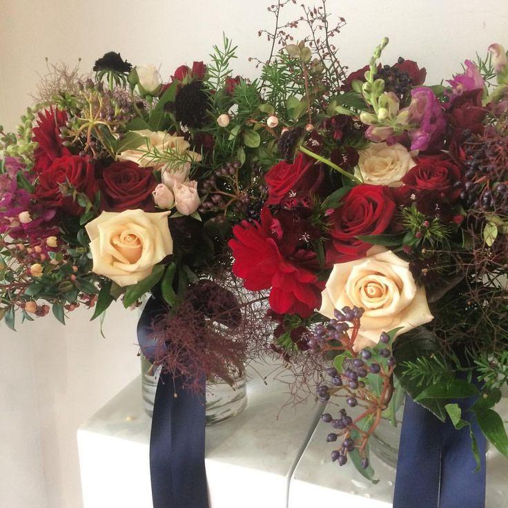 Megan's Bridesmaids Bouquets | Peach Avalanche | Sahara Rose | Navy | Estelle Flowers Weddings | Dunedin, NZ.