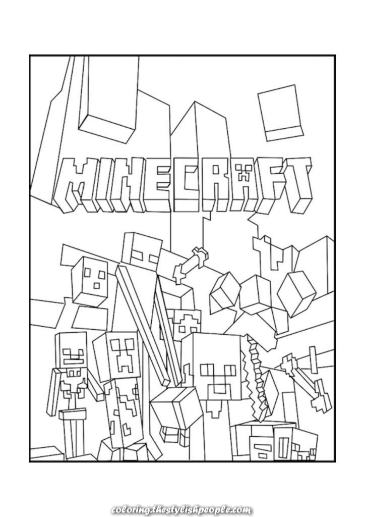 Unique And Creative Coloring Pages Greatest Minecraft Mobs Coloring Pages Free Printable Minecraft Coloring Pages Lego Coloring Pages Minecraft Printables