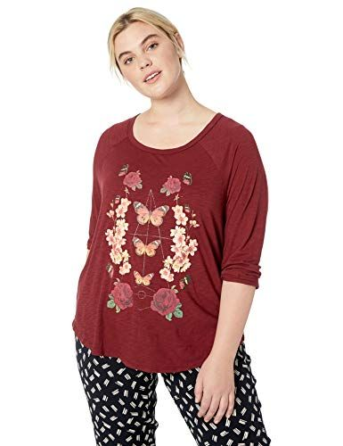 bf777fc4104c9f Best Seller Lucky Brand Women s Plus Size Butterfly Floral Print Tee ...