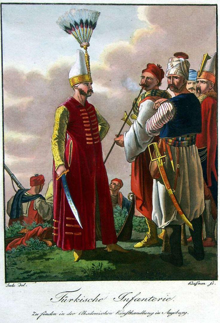 Turkish infantry. Characteristic representation of the principal European military men or Augsburger Bilder 1802-1810: Ottoman.